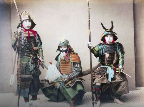 Japanese samurai warriors.